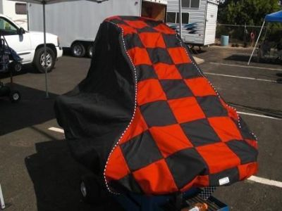 """Purchase Quarter Midget Car Cover """"FULL CHECKERED"""" motorcycle in Madera, California, United States, for US $159.95"""