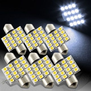 Buy 6x 34mm 16 SMD White LED Festoon Dome Map Glove Box Trunk Replacement Light Bulb motorcycle in Walnut, California, United States
