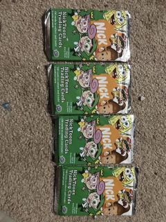4 packs of unopened Nicktoons trading cards