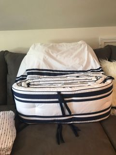 Pottery Barn Harper Crib skirt and bumpers
