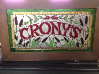 Pub stained glass sign