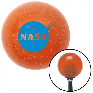 Find Blue Nasa Logo Circle Orange Metal Flake Shift Knob with 16mm x 1.5 motorcycle in Portland, Oregon, United States, for US $29.97