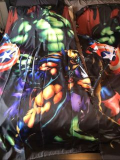 Avengers curtains - 2 pair