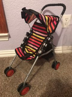 Doll stroller collapsible