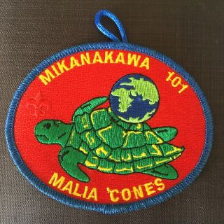 Boy Scouts - colorful Mikanakawa OA Lodge 101 oval patch