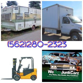 WE $ REMOVE FORKLIFTS, BOX TRUCKS AND RV'S,