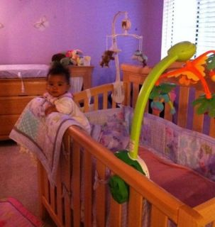 Baby crib and matching furniture changing table ,nursery