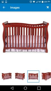 Delta 4in1 convertible crib(crib/toddler bed/full size bed)