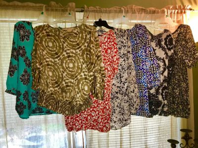Closet Cleaning, Part 2 About 35 Pieces Very Nice Tops, Pants Mostly X L. Some 1X and L