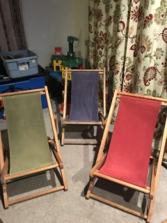 Set of 3 kids outdoor lounge chairs