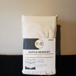 NWT - Queen Cream Colored Bed Skirt