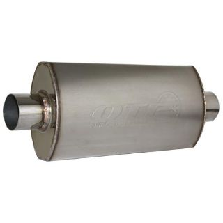 "Sell QTP 12250 AR3 Race Muffler Stainless Steel Bullet 2.5"" Inlet Outlet motorcycle in Suitland, Maryland, US, for US $109.88"