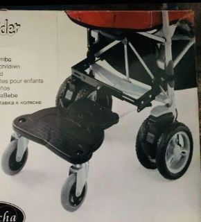 Stroller extension stand up rider