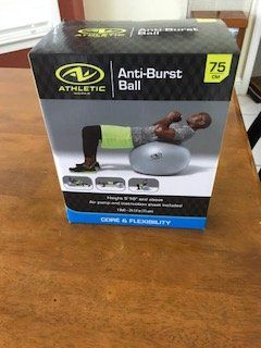 Anti-burst exercise ball