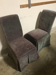 Parson cloth covered chairs 2