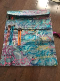 Knitting/crochet needle case with project bag NEW!