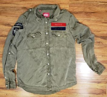 Vintage SuperDry army colored shirt
