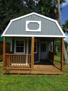 12x32 Deluxe Side Lofted Barn Cabin