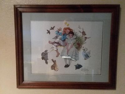 Norman Rockwell etched metallic Print