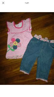 PRECIOUS NANNETTE JEANS AND MATCHING TOP OUTFIT SIZE 4T