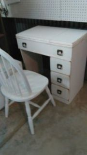 Shabby Sewing Canbinet & Chair