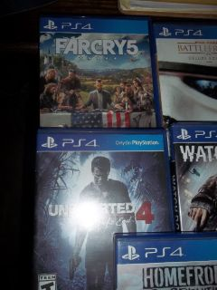 PS4  take all 5 games for $50.00