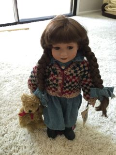 Boyd's Bear yesterday's child doll collection Karen. 18 inches tall, no box. Porch pick up. Laguna/Franklin Blvd.