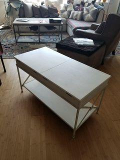 Coffee Table- solid wood, steel frame, Baker brand