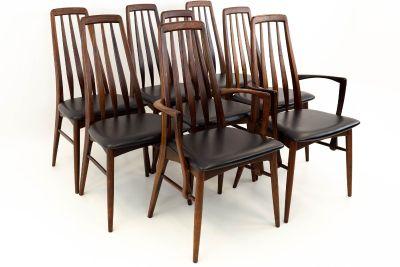 Niels Koefoeds Hornslet Rosewood Eva Dining Chairs