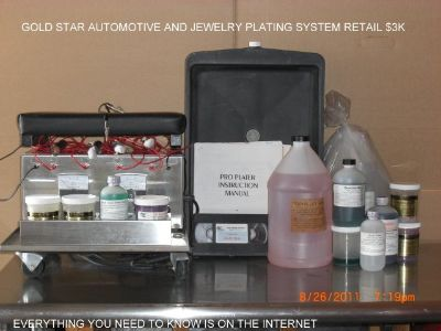 Gold platting machine retail $3000.00 plates Cars , Jewelry ,Faucets endless poss.