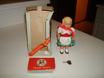 Vintage - 1950's Wind-Up Sweetheart Dancing Doll Made in West Germany