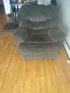 Gray Rocking Recliner