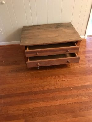 MAKE OFFER,,,2 project coffee tables with drawers $45 EACH
