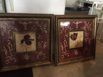 Lovely Flower Framed Prints (pair)