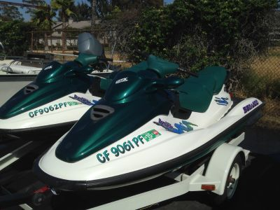 Sea Doo Bombardier GTX Pair w/trailer 1997