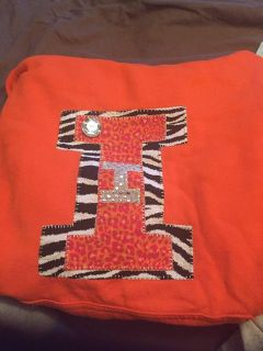 For the Illini fan- hooded sweatshirt with pockets adults xl