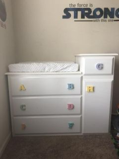 Custom changing table with deep drawers!
