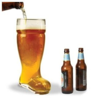 New in Box Boot Beer Glass