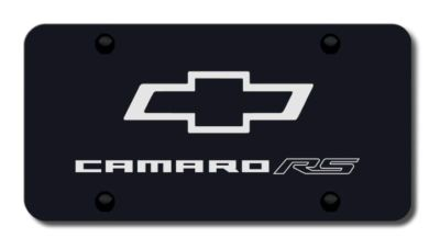 Purchase GM Camaro RS Laser Etched Black License Plate Made in USA Genuine motorcycle in San Tan Valley, Arizona, US, for US $39.52