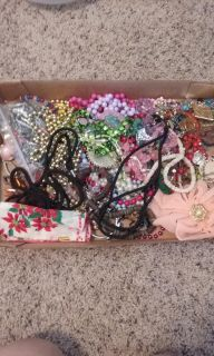 LOTS of Necklaces, Bracelets, Pins, Earrings - Youth Dress Up Or Theatrical Costume Jewelry