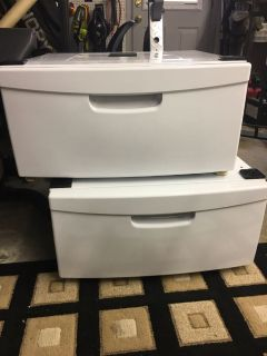 Washer and dryer stands drawers pedestals