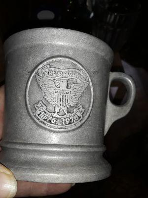 Vintage metal cup