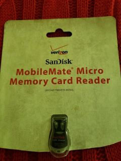 sandisk mobilemate micro memory card reader (red and black)
