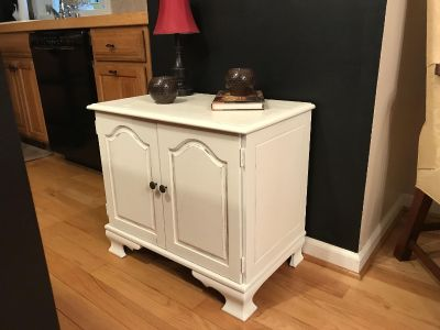 Solid Wood Vintage Cabinet with Storage