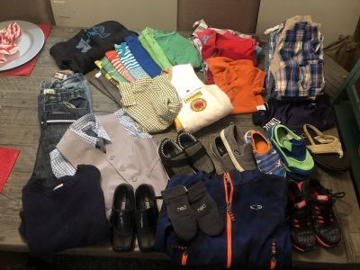 HUGE lot size 4-5 boys clothes and shoes