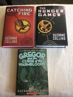 3 Suzanne Collins books THE HUNGER GAMES...
