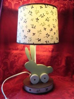 Baby Nursery Child Bedroom Bunny Rabbit Bedside Electric Lamp Woodland Tones