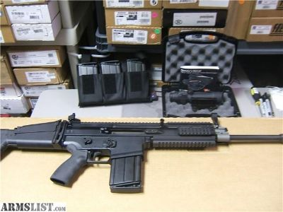 For Sale: NICE FN 17S SCAR -.308 - TRIJICON SCOPE with 7 MAGS