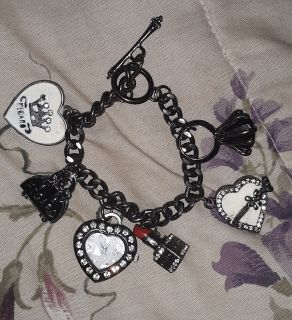 Figaro Charm Bracelet with Watch
