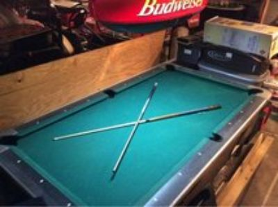 Pool Table with light and accessories